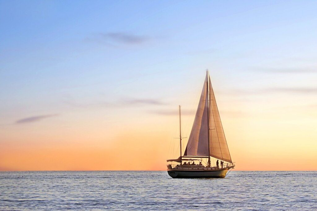 seascape, sail boat, sailing