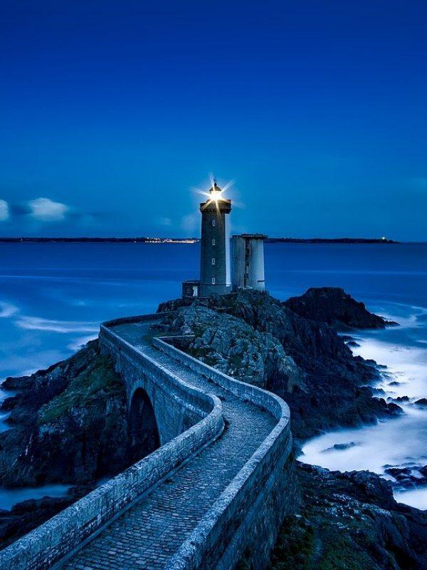 plouzane, lighthouse, france